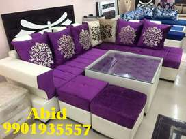 Top quality fabri l shape corner sofa set unique 3 years warranty c 20