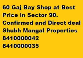 60 gaj Bay shop available in sector 90.