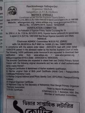 Need govt. Organize teacher for primary school
