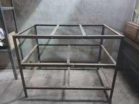 Garage Table Heavy Iron height 3 feet length 4 feet width 2/5 feet