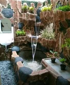 Relief tebing air mancur / minimalis kolam dan taman