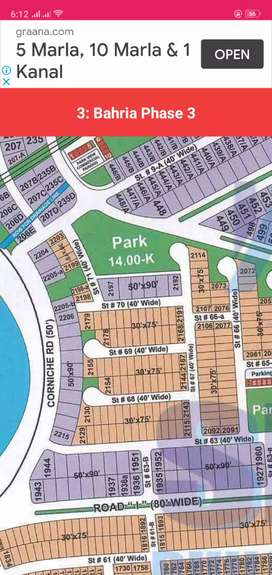 10 Marla plot 2183 for sale in bahria town phase 3