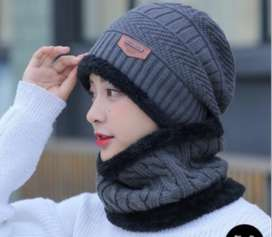 UNISEX Hot Knitted Cap & Neck Warmer Winter Hat