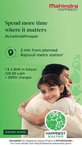 1&2 BHK in Kalyan just 2 mins from planned Rajnouli Metro Station