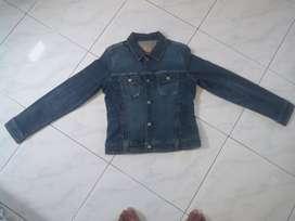 Jaket Jeans cewek ukuran : L . original merk SG Denim sport girl .