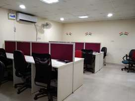 20workstion+2cabin+reception pantry toilet fully furnished office for