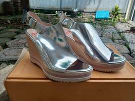 High Wedges Mikaela - Silver Size 38