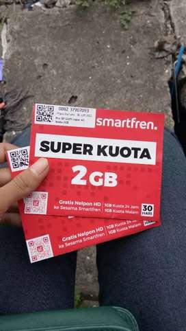 Perdana SMARTFREN kuota 2GB