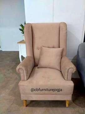 Sofa Wing Chair , Bebas pilih Kainn ,