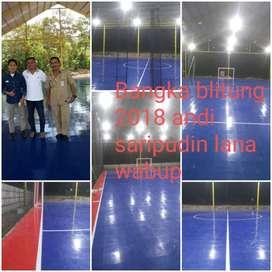 Pembuatan lapangan futsal interlocking