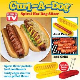 Pemotong Sosis Otomatis Hotdog Cutter Spiral Curl a Dog Cutter Slicer