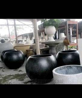 Pot tanaman terrazzo bentuk bola