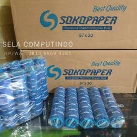Kertas Struk Printer Kasir Thermal 58/30 57/30, Isi 10Roll/Bungkus