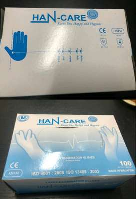 Imported Latex Gloves Brand : Han-care
