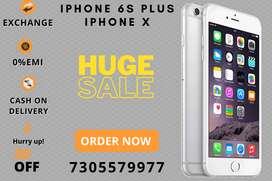 iPhone 6s plus 32/64/128gb - iPhone X 256gb - 0%EMI - Exchange offer