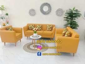 Sofa single retro kuning