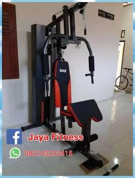 Alat fitnes murah home gym 1 sisi bisa cod