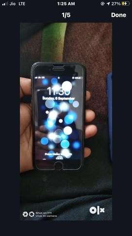I phone 7 , z black colour
