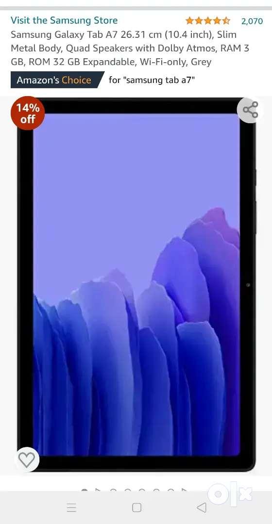 Samsung Tab A7 3gb ram /32gb internal storage
