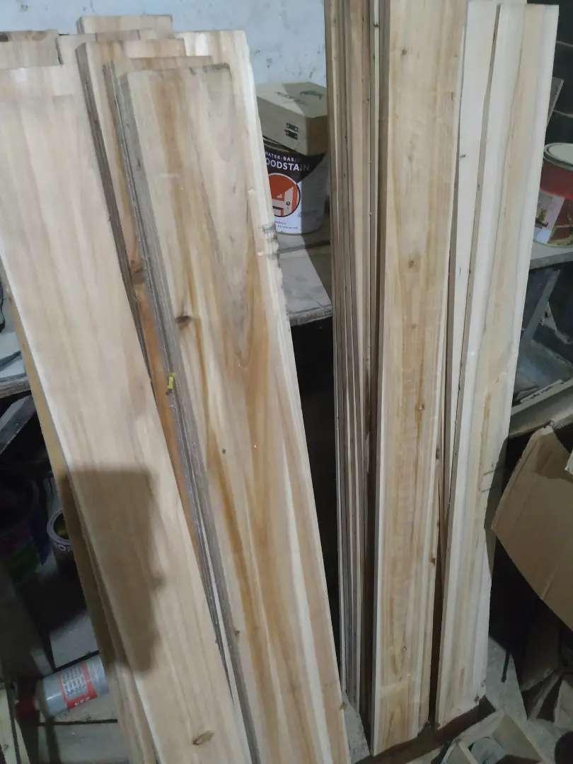 Papan kayu jati belanda tanpa bekas paku 1x9-10x100-120cm 0