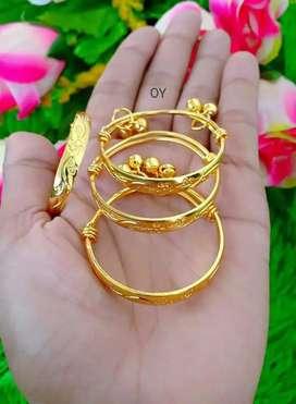 Set gelang tangan dan kaki xuping gold dan silver