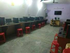 Running computer training institute equipped with 14 computer's Lab