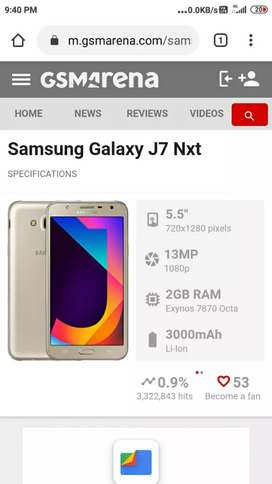 It is Samsung galaxy j7 NXT.