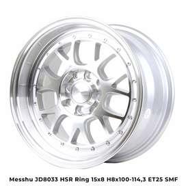 MESSHU JD8033 HSR R15X8 H8X100-114,3 ET25 SMFL (VELG COMPLAIN)