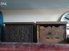 Antique wooden box boxes furniture yr 1739