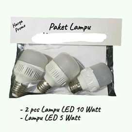 Paketan lampu isi 3pcs per paket harga murah meriah