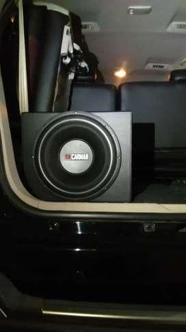 Terpasang dirumah konsumen. Paket audio power subwoofer twetter box