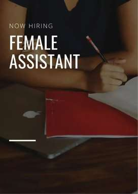 Female assistant required for office work