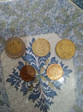 Different country coins