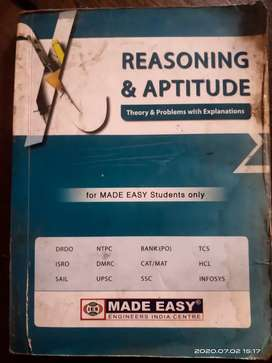 MADE EASY MATHS AND REASONING BOOK