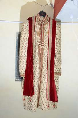 Sherwani for sale with mala dupata and juti