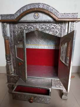 Antique silver color house hold temple