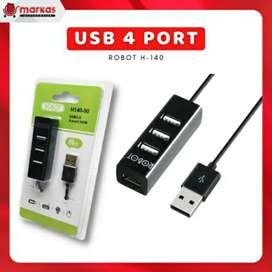 USB Hub 4 Port Robot H140-80 Komputer Portable High Speed Adaptor PC
