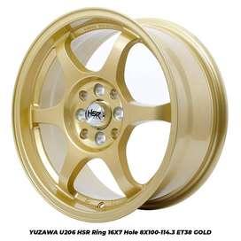 NEWYUZAWA U206 HSR R16X7 H8X100-114,3 ET38 GOLD