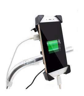 Motorcycle Mobile Holder With USB Charger For all Bikes