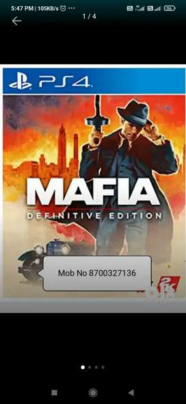 MAFIA DEFINITIVE EDITION PS4 GAMES AVAILABLE.