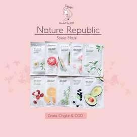 Masker Wajah Nature Republic Real Sheet Mask