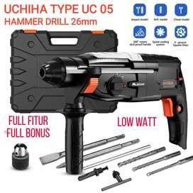 UCHIHA Type UC-05 hammer rotary impact driil bor beton besi kayu japan
