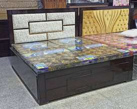 New designer double bed with storage