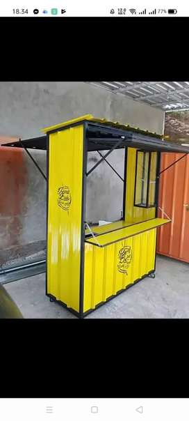 booth container rombong jualan