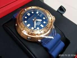 Jam Tangan San Martin Bronze Tuna Seiko 300m Diver Homage - Biru