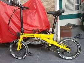 Sepeda Lipat Camp Hazy 3s (yellow)