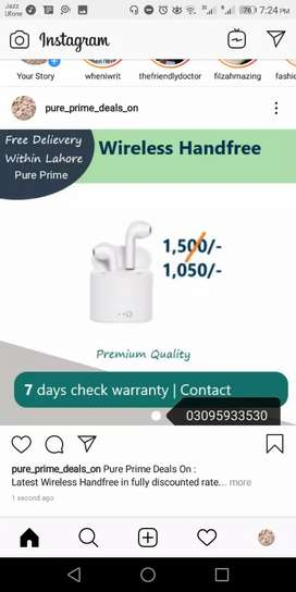 PURE PRIME special wireless handfree offer. Get the best