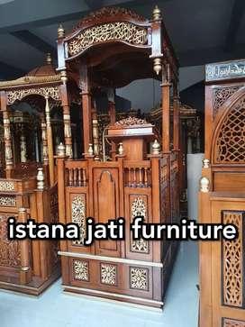 Mimbar masjid kubah jati elegan mimbar terbaru