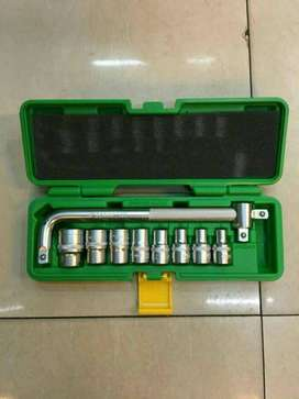 TEKIRO Kunci Sok set 1/2 DR 10 pcs 6 /12 pt ( plastik) ID93