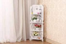 Rak hias sudut dinding/stand.wadah/lemari boneka,bunga,foto bingkai